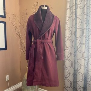 UGG Spa Robe Bathrobe Burgundy Maroon Size L